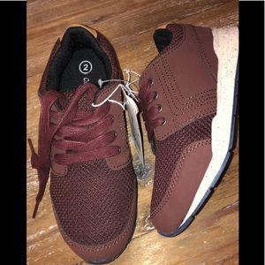 New cat & jack burgundy sneakers